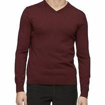 Calvin Klein Mens Burgundy v Neck Sweater Size S Photo