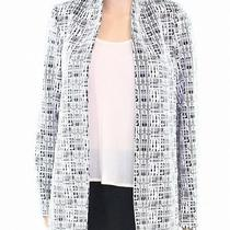 Calvin Klein New Black Womens Size 6p Petite Open-Front Textured Coat 139 116 Photo