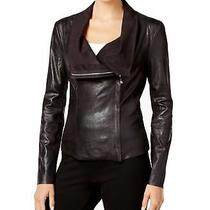 Calvin Klein New Black Womens Size Small S Distressed Flyaway Jacket 159 424 Photo