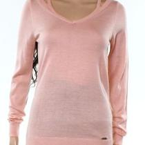 Calvin Klein New Blush Pink Women's Size Small S v-Neck Cutout Sweater 69 846 Photo