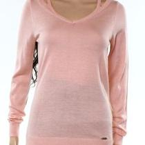 Calvin Klein New Blush Pink Women's Size Xs v-Neck Cutout Sweater 71 433 Photo