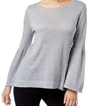 Calvin Klein New Gray Womens Size Small S Pullover Shimmer Sweater 79 582 Photo