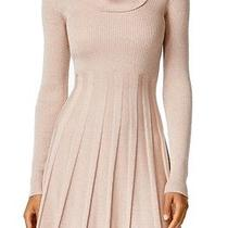 Calvin Klein New Pink Blush Gold Women's Large L Knit Sweater Dress 134- 020 Photo