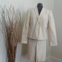 Calvin Klein New  Wedding Mother of Bride Suit Spring Sz 14 Retail 280 Apricot Photo