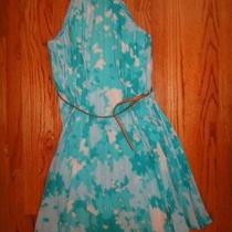Calvin Klein Nwt Flattering Aqua Dress 6 Photo