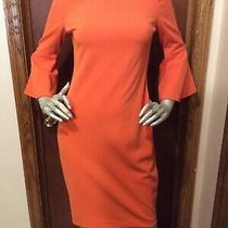 Calvin Klein Orange Bell Sleeve Sheath Dress - Size 4 - Used Once Photo