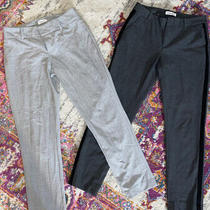 Calvin Klein Pants Gray Work Plaid Stripe Size 4 Lot of 2 Photo