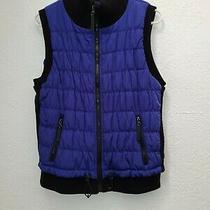 Calvin Klein Performance Black/blue  Full Zip Puff Vest Women's Large Mp3 Pocket Photo