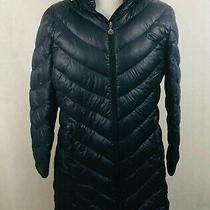 Calvin Klein Puffer Coat Xlarge Womens Black Quilted Down Lightweight Packable Photo