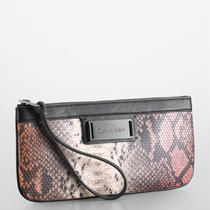 Calvin Klein Quinn Jenna Wristlet Clutch Womens Photo