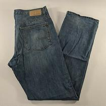 Calvin Klein Relaxed Straight Leg Blue Jeans Mens Size 34  Photo