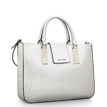 Calvin Klein Scarlett Textured Leather Triple Compartment Tote Bag Photo
