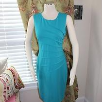 Calvin Klein Sexy Tight Turquoise Dress Size 4 - Worn Once Photo