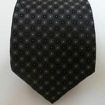 Calvin Klein Silk Holiday Heather Necktie Black Dot Nwt Tie Photo