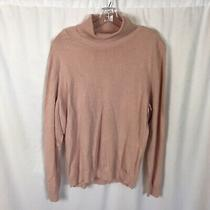 Calvin Klein Turtleneck Sweater Blush Pink Long Sleeve Womens Size Xl Photo