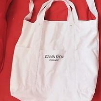Calvin Klein Underwear White Cotton Shoulder Tote Bag - New Photo