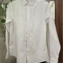 Calvin Klein White Stripped Shirt Size 16 Photo