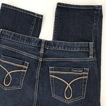 Calvin Klein Womens 30/10 Skinny Blue Jeans Actual 34 X 30.5 Rise 10 Photo