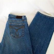 Calvin Klein Women's  Blue Jeans Size 4  Long Stretch Cotton Boot Cut  Photo