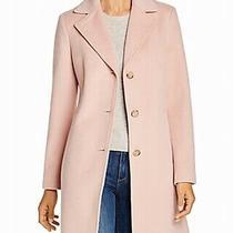 Calvin Klein Women's Coat Blush Pink Size 12 Notch Collar Wool 215 788 Photo