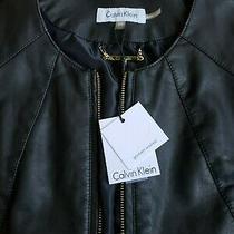 Calvin Klein Women's Faux Leather Jacket Soft Beautiful Nwt Size Xs Photo