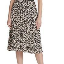 Calvin Klein Women's Full Skirt Pink Size 16 Floral Pleated Midi 89 384 Photo