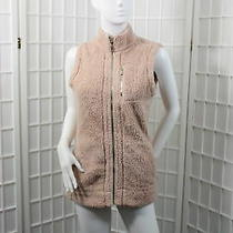 Calvin Klein Women's Jacket Vest Faux Fur Soft Color Blush Size Small Photo