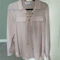 Calvin Klein Womens Blouse Blush Pink Size Small S Photo