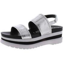 Calvin Klein Womens Nola Silver Slingback Sandals Shoes 8 Medium (Bm) Bhfo 4244 Photo