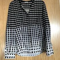 Calvin Klein Womens Shirt Black White and Grey Size Xs Photo