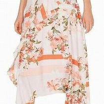 Calvin Klein Womens Skirt Pink Size 4 Maxi Midi Floral-Print Ruffled 99- 277 Photo
