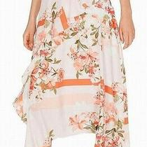 Calvin Klein Womens Skirt Pink Size 6 Maxi Floral-Print Ruffled Midi 99- 278 Photo
