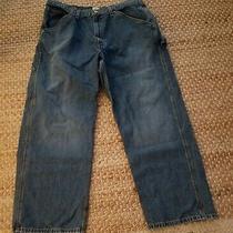 Calvin Klein Worker Carpenter Straight Leg Men's Jeans Blue Denim Size 38 X 30 Photo