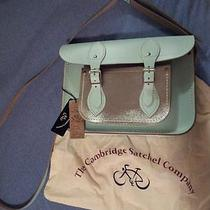 Cambridge Satchel Company Blue and Silver Leather Purse 11