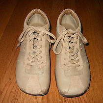 Camel Leather & Suede Diesel Name Evelyn Lace Up Shoe Sz 7 1/2 Photo