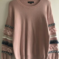 Cameo Rose Jumper Size S New Look Pullover Blush Pink Lovely Detail on the Arms Photo