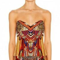 Camilla 'Ancient Magic Adorns' Embellished Corset Top Size 2  Au 10/12 Photo