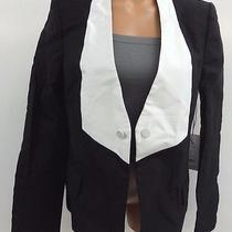Camilla and Mac Womens Silk Cotton Twill Tux Jacket Size 8 Nwt Photo
