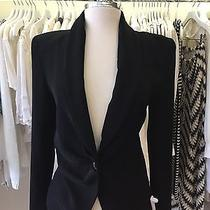 Camilla and Marc  Black Fitted Shoulder Jacket  Size 6 Photo