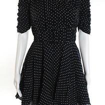 Camilla and Marc Navy Blue Polka Dot Print Dress Size 2 Bn754 Photo