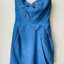 Camilla and Marc Ophelia Dress Peacock Blue Silk Sz 8 Photo