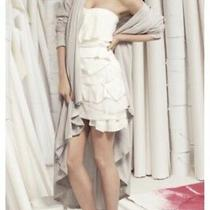 Camilla and Marc Summer Elodie Tulle Strapless White Dress Size 0 6 Xs Rrp599 Photo