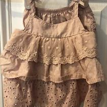 Camilla Baby Dress W/ Diaper Cover  Size 3-6 Months  Pink Cotton Eyelet Sundress Photo