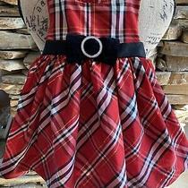 Camilla Baby Girls Dress Size 12 Months Red Plaid W/ Ribbon Holiday Dress Photo