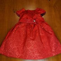 Camilla Baby Red Foil Christmas Dress 12 Month 12m Holiday Fancy Party Dress Photo