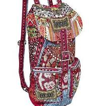 Camilla  Bag  Fabric of My Forebears Embroided Backpack W/ Pockets Photo