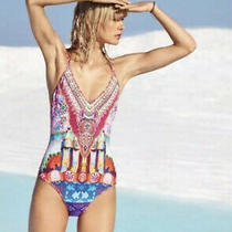 Camilla Casa Mila Swimsuit 4 Express Franks Size 8 Small Onepiece Reversible Photo
