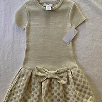 Camilla Dress Gold Holidays Girls Dress- Nwt Size Us m(5-6) Photo