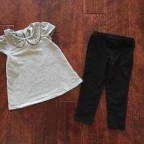 Camilla Elegant Formal Grey Top Fancy Black Legging 2t Set Boho Chic Pearls Photo