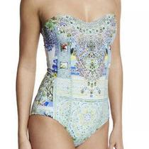 Camilla Embellished Bandeau One-Piece Swimsuit My Majorelle Us Size 8 Nwt Photo